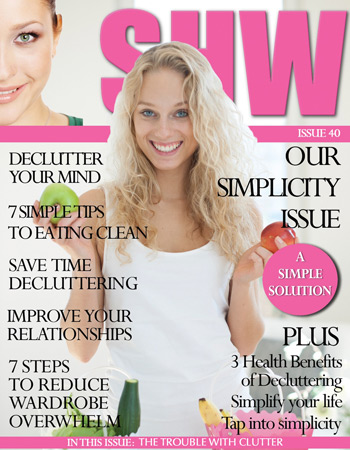 """Cover story Issue 40 """"Declutter Your Mind"""""""