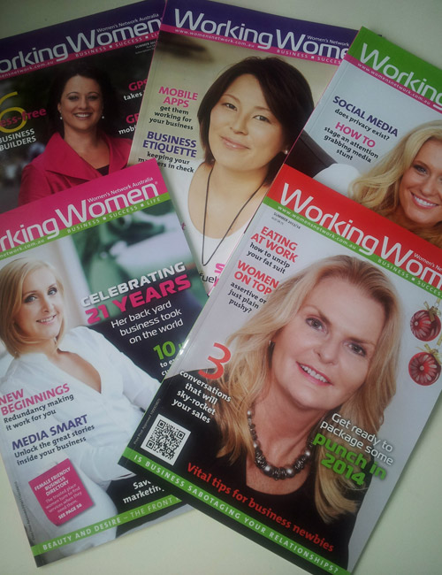 A collection of some of the editions Sue's had articles published in.