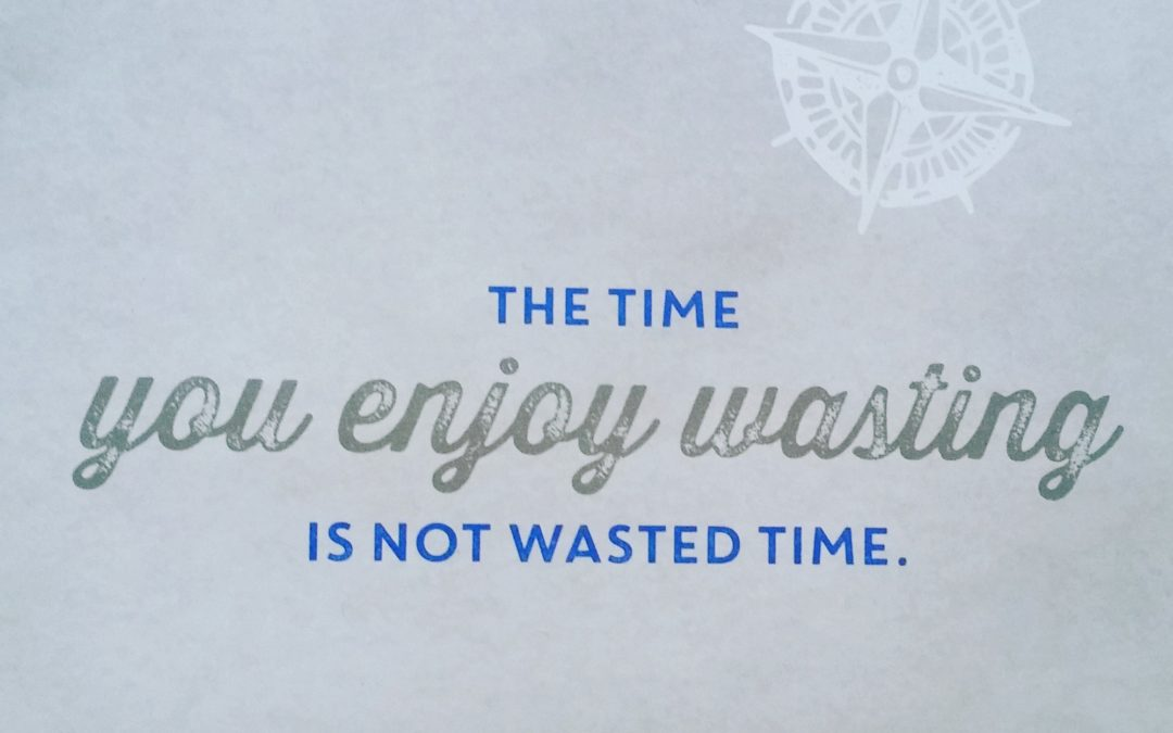 The Time You Enjoy Wasting Is Not Wasted Time Sue Lester