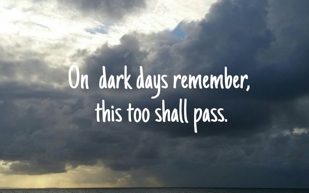 Freedom starts within. On dark days remember, this too shall pass.